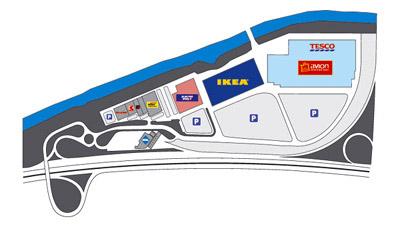 Shopping Park Brno mapa