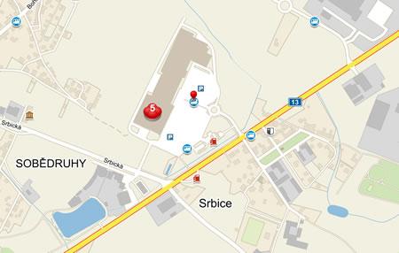 Mapa Olympia Teplice